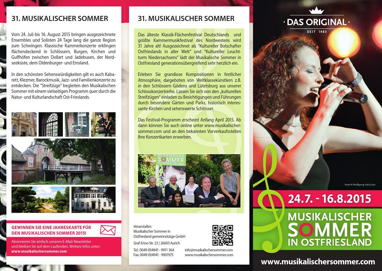 musikalischer sommer ostfriesland