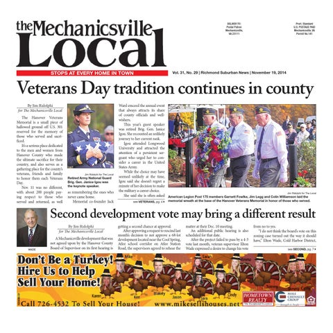 11 19 2014 By The Mechanicsville Local Issuu