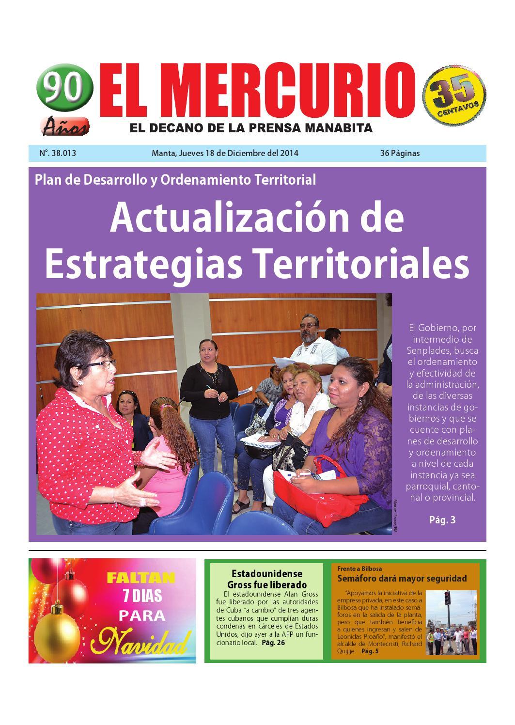 Mercurio jueves 18 de diciembre del 2014 by Diario El mercurio - issuu