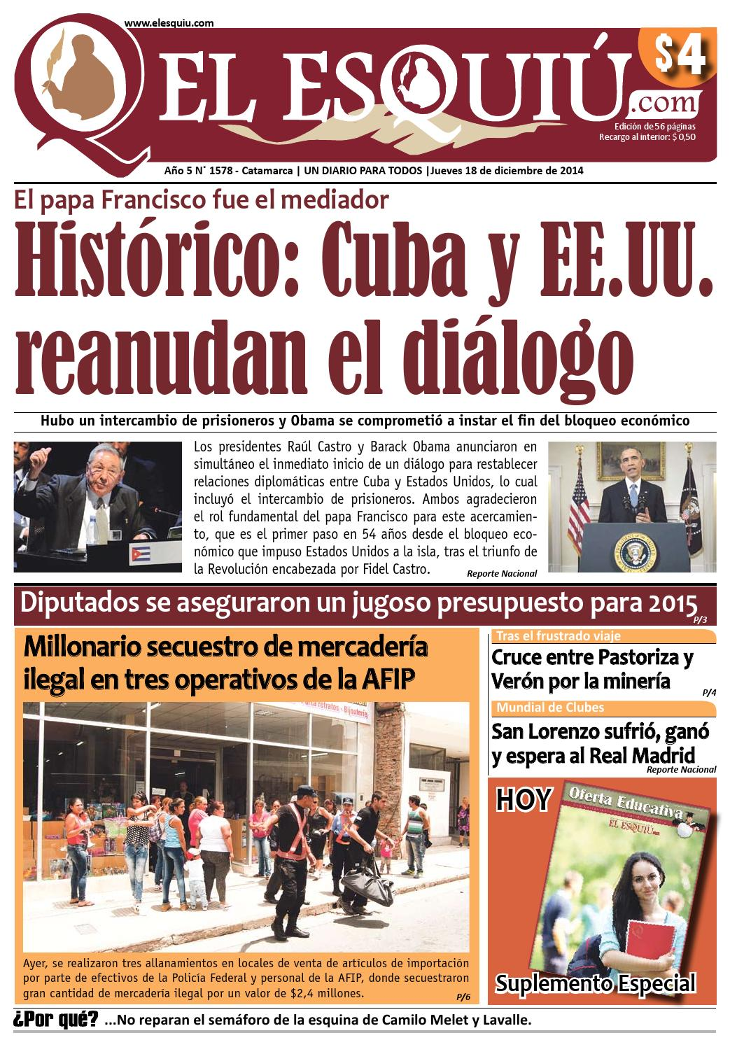 El Esquiu.com, jueves 18 de diciembre de 2014 by Editorial El Esquiú ...