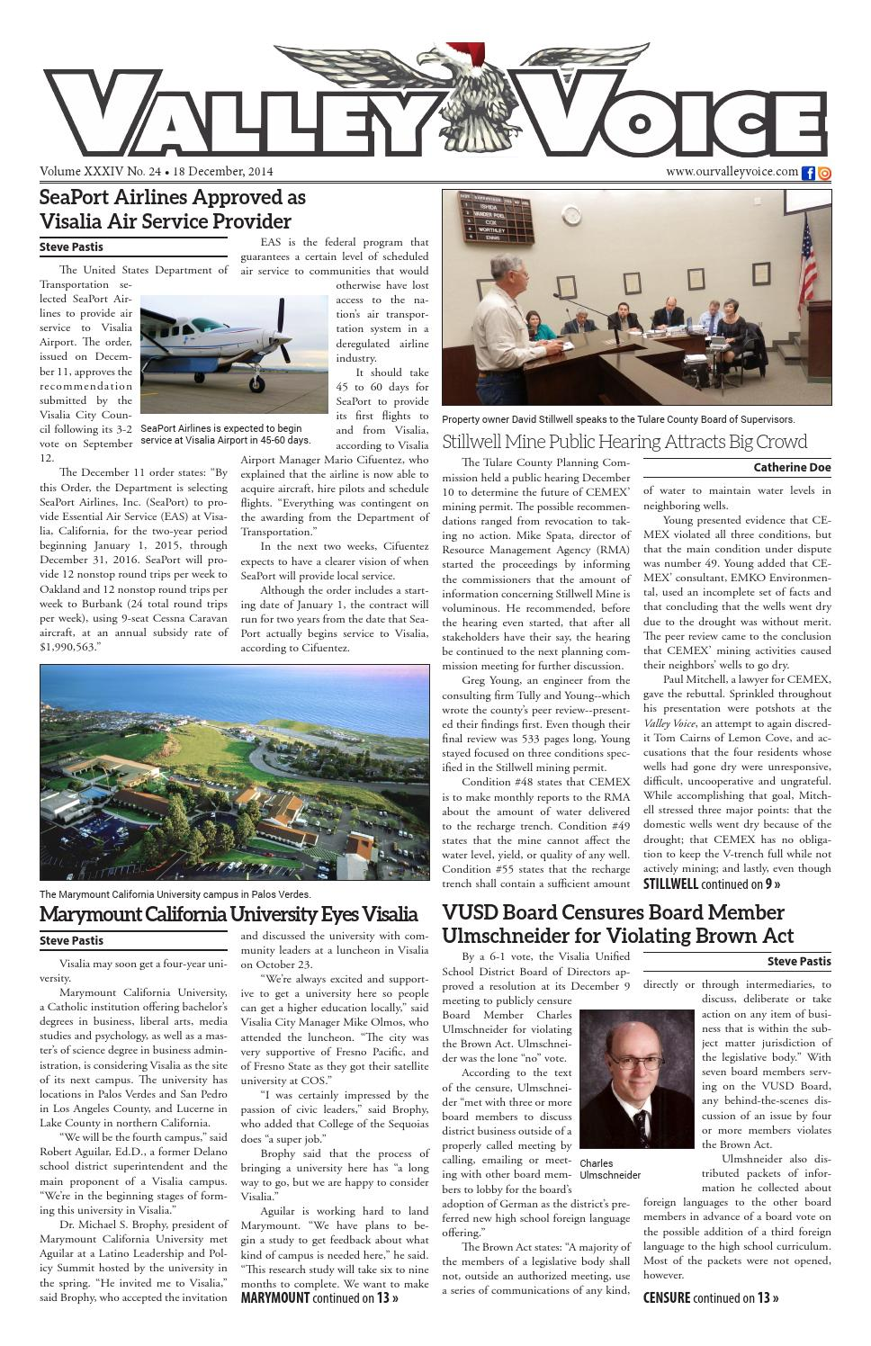 f8f494234db Valley Voice Issue 35 (18 December, 2014) by Valley Voice - issuu