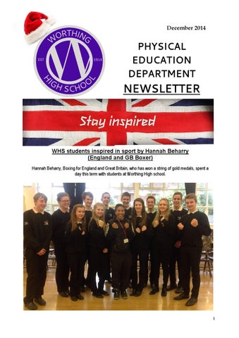 Pe newsletter december 2014 by Worthing High School - issuu