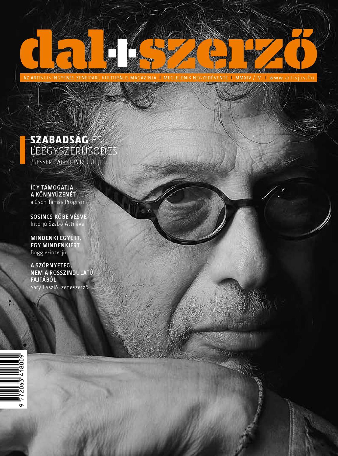 Dal+Szerző magazin 2014 04 by Artisjus - issuu a791898b27