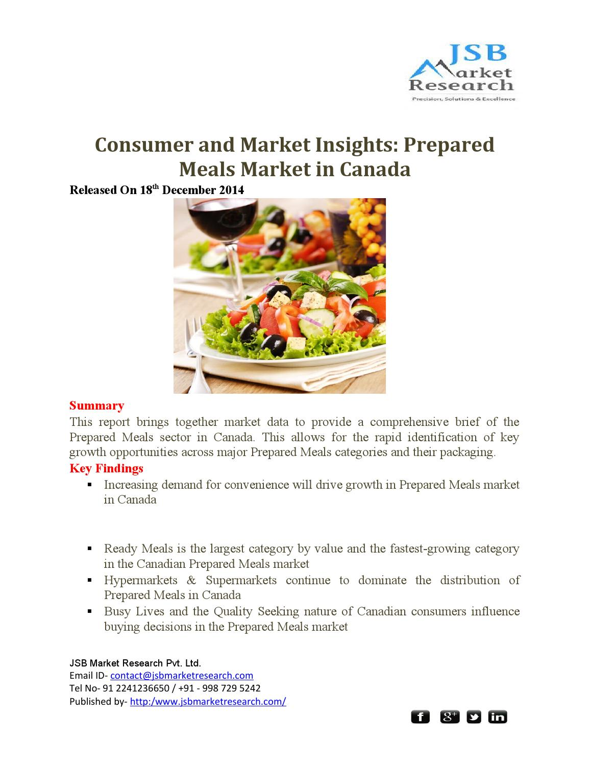 JSB Market Research : Consumer and Market Insights: Prepared Meals ...