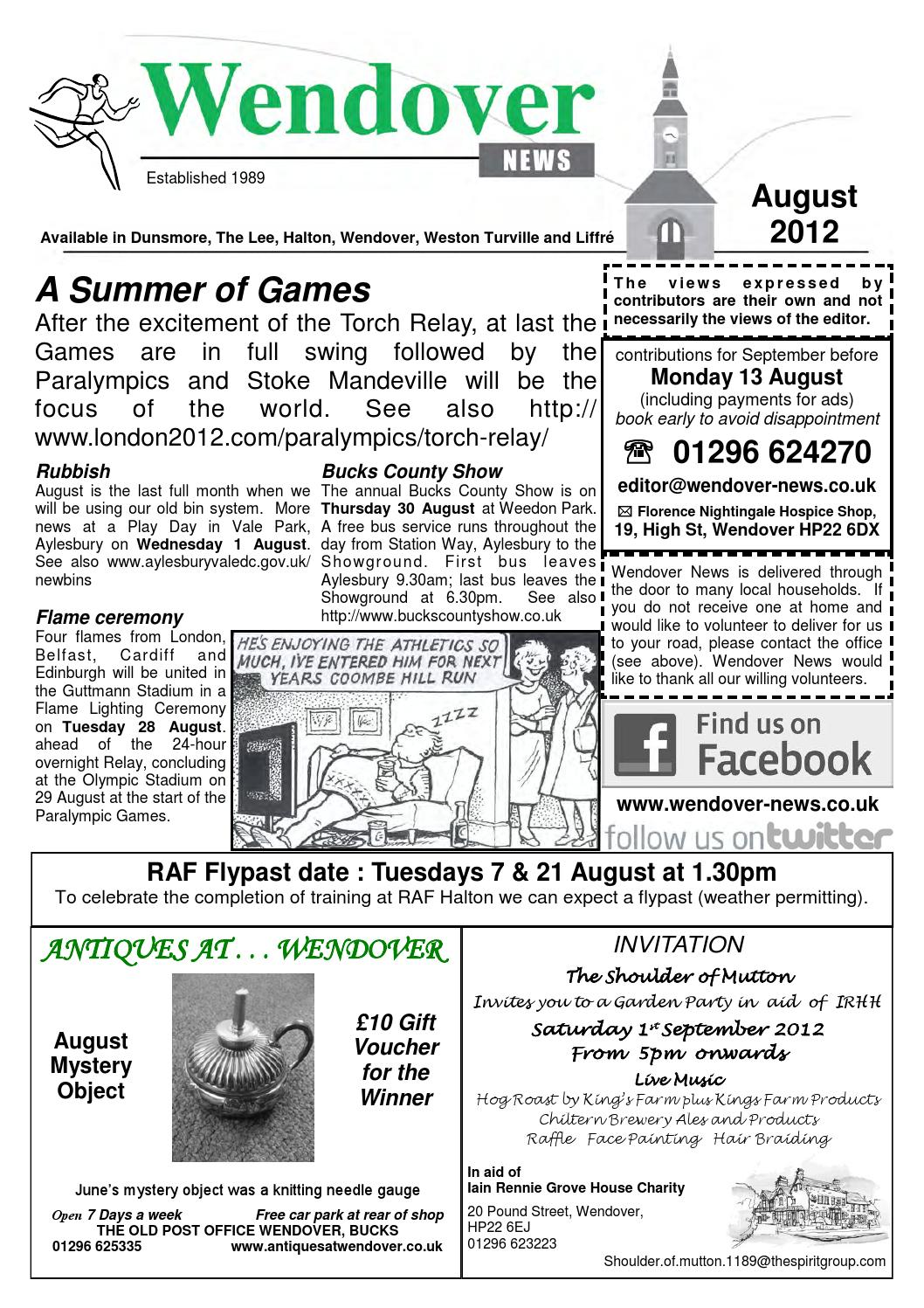 8c12539e65 August 2012 Wendover News by Wendover News - issuu