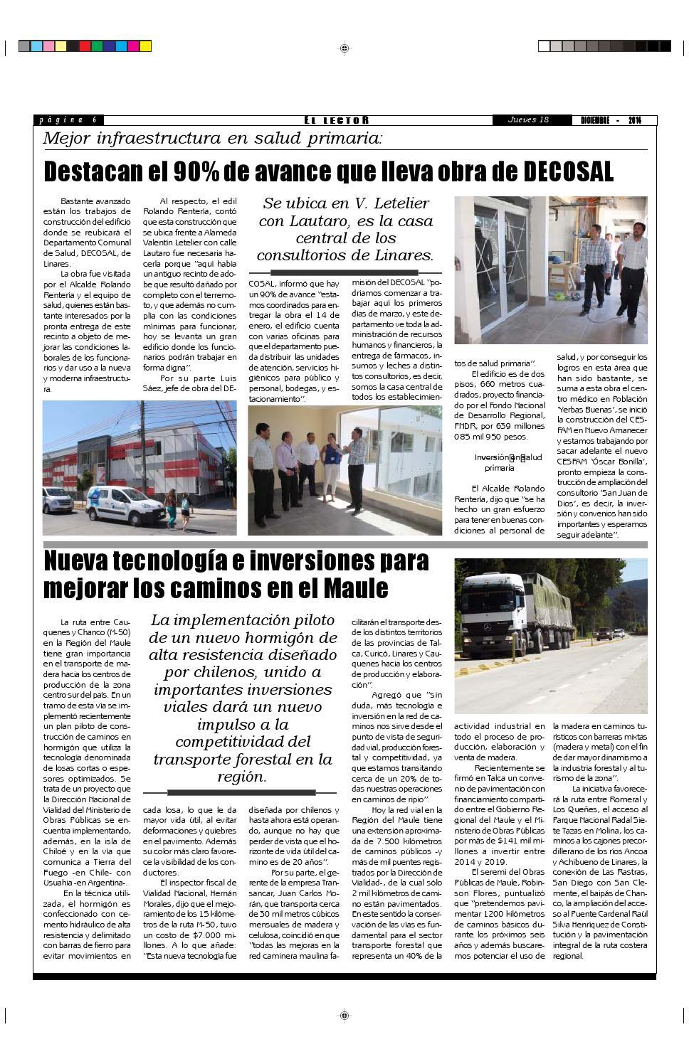 5a3e0403b86 Jueves 18 de diciembre 2014 by Diario El Lector del maule - issuu