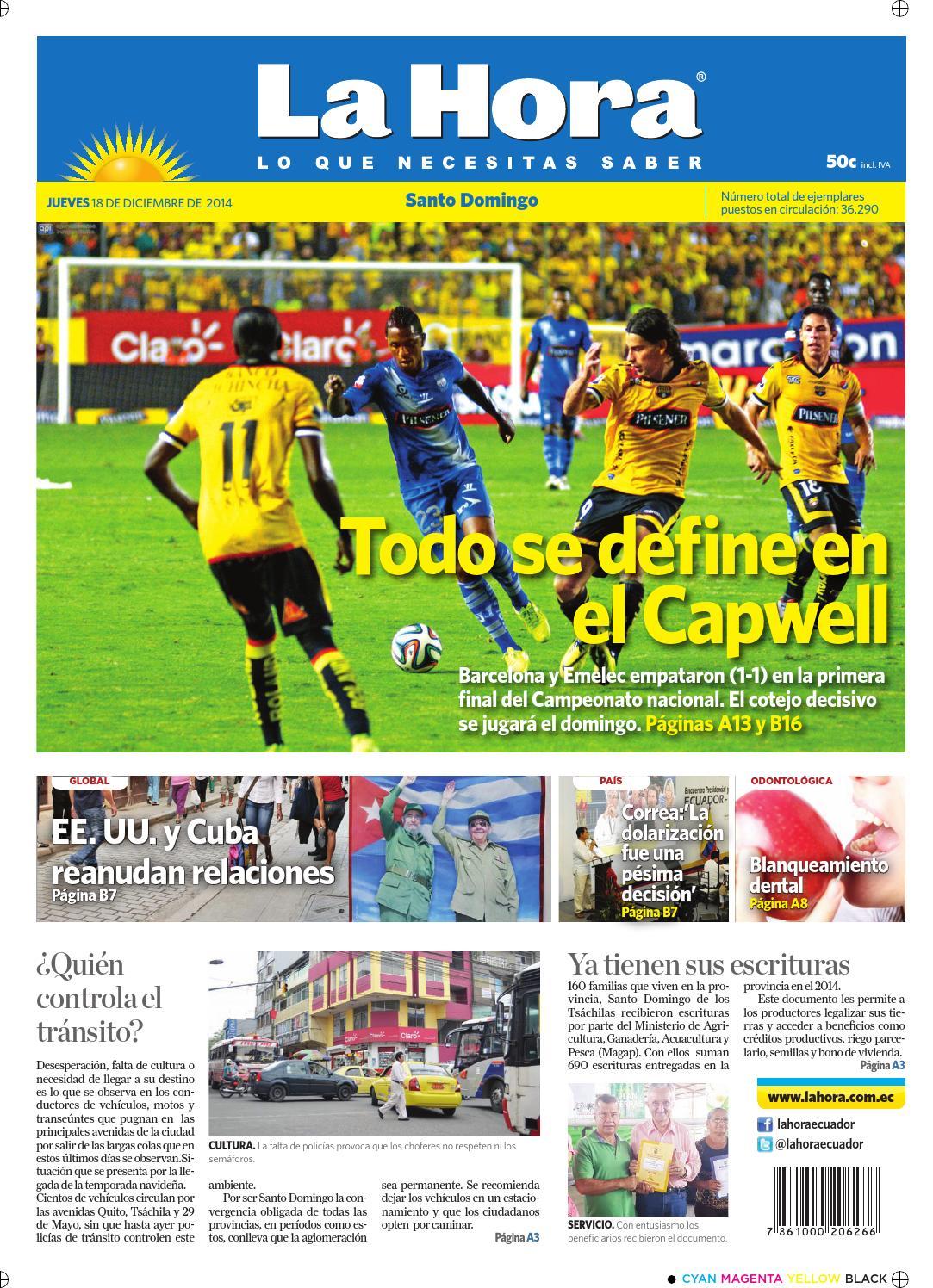 Santo Domingo 18 diciembre 2014 by Diario La Hora Ecuador - issuu