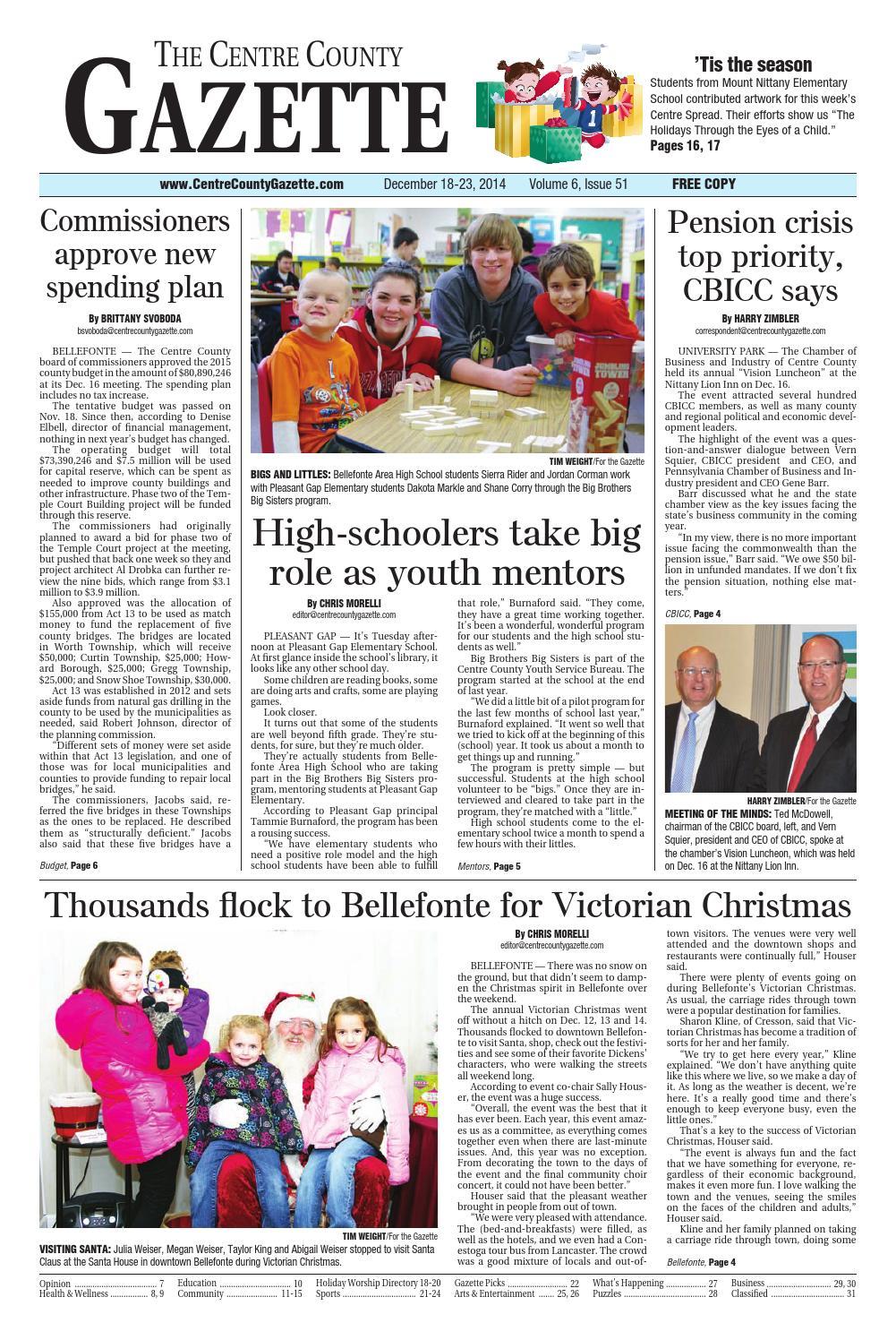 42ae34da39 12 18 14 centre county gazette by Centre County Gazette - issuu