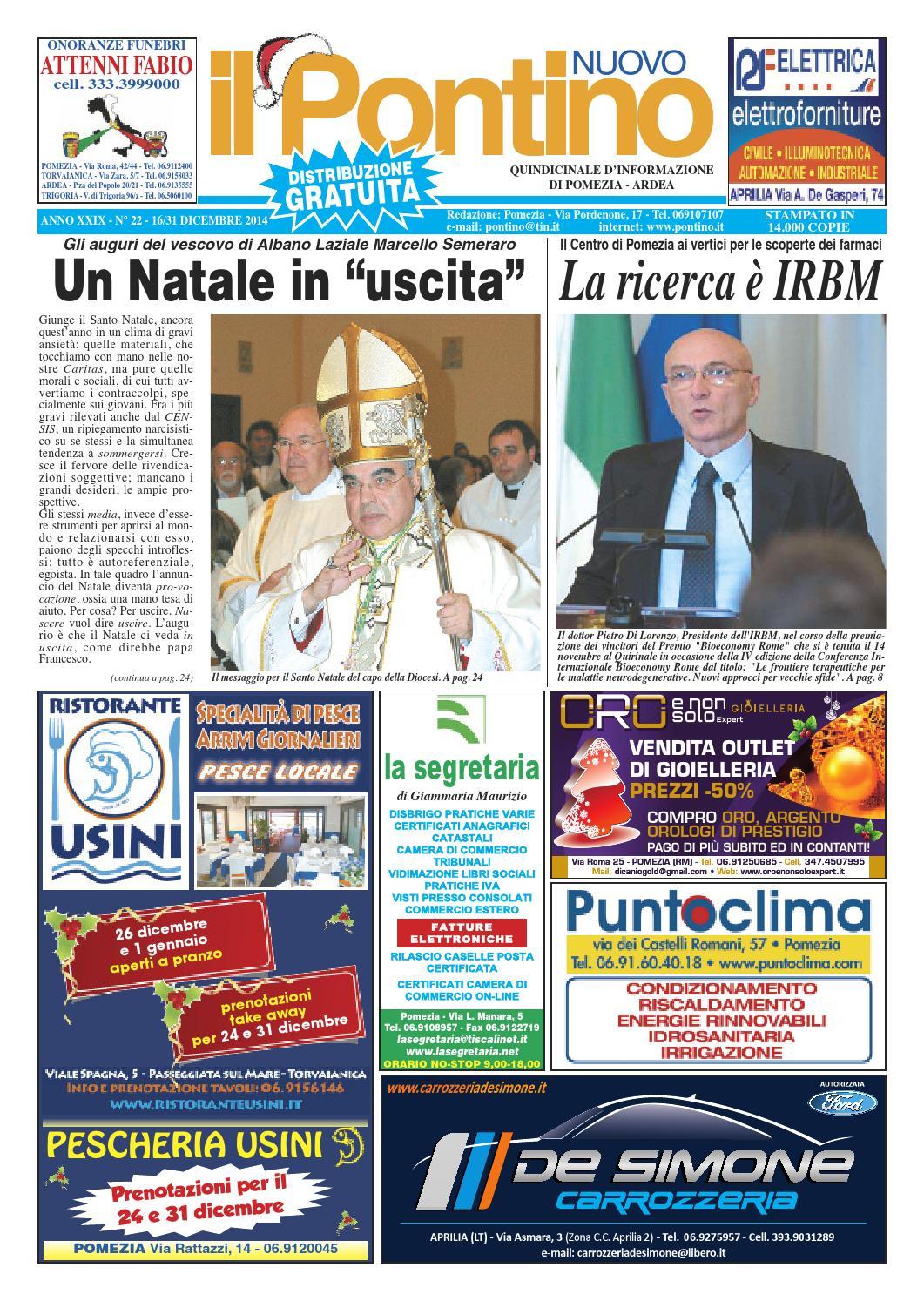 e05c1ff284c6 Il Pontino Nuovo n. 22 - 16 31 Dicembre 2014 by Il Pontino Il Litorale -  issuu