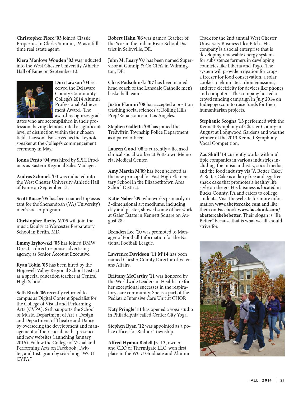 West Chester University Magazine, Fall 2014 by West Chester