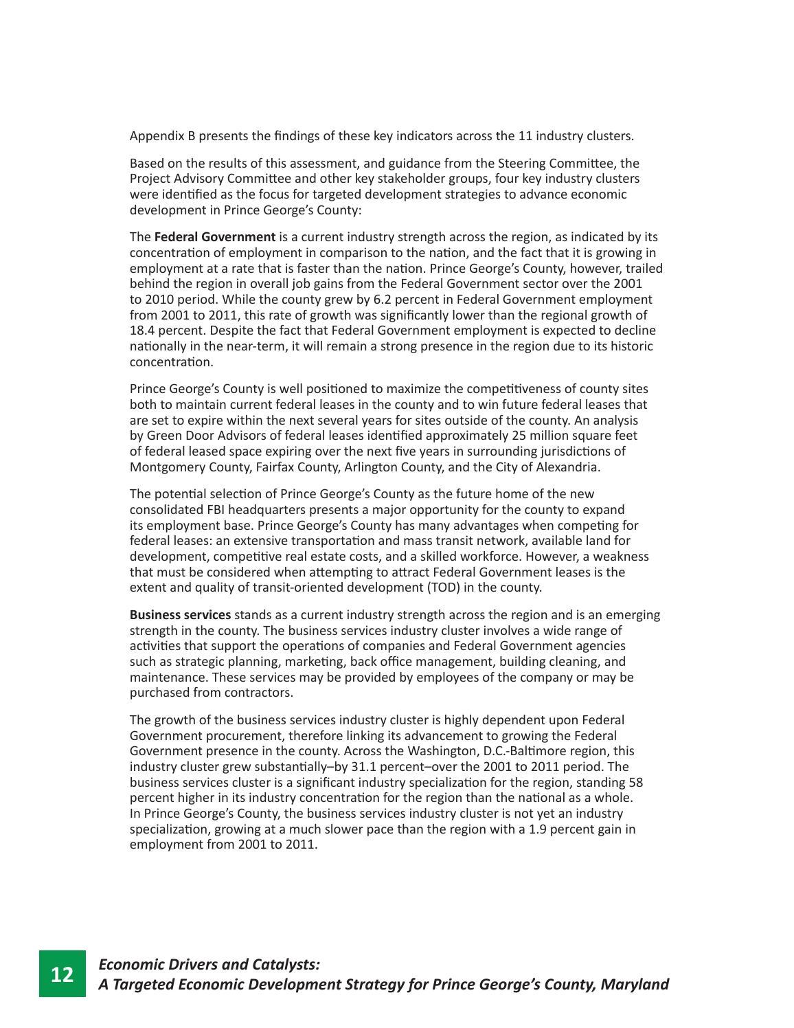 Prince George's County Economic Development Strategic Plan