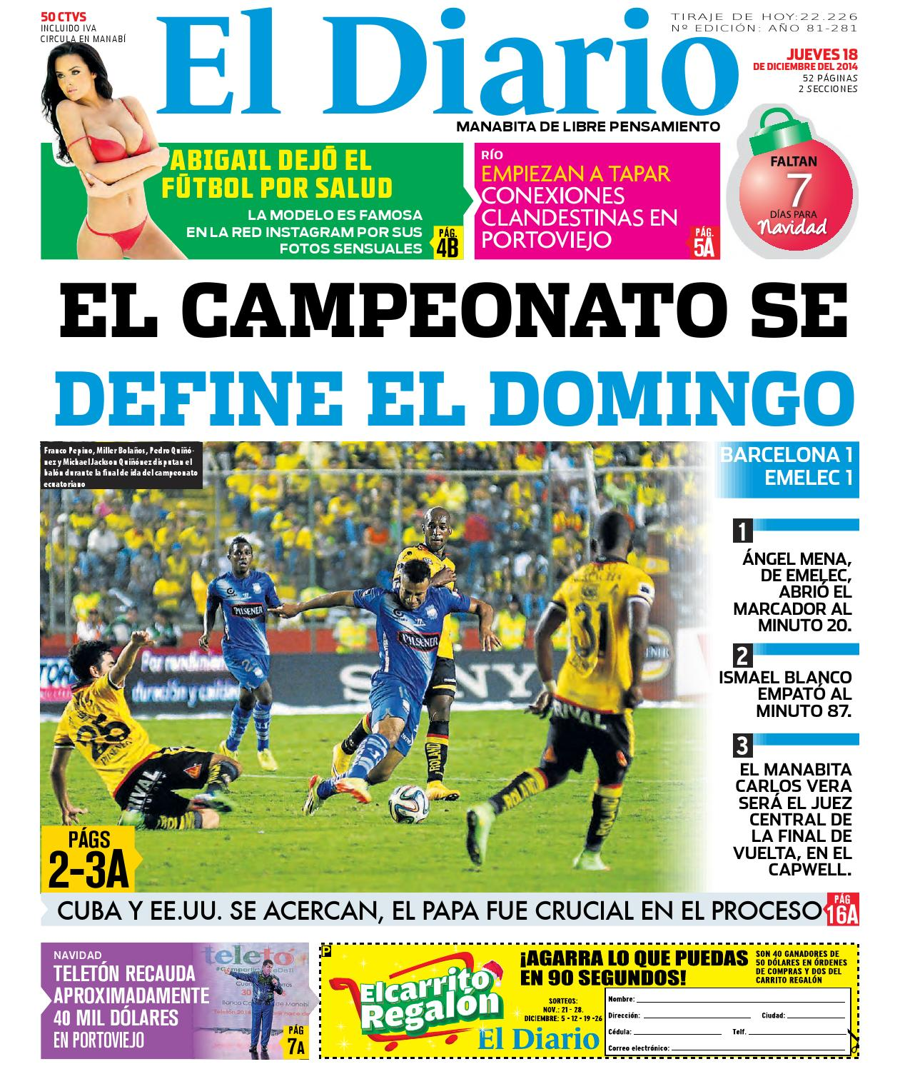 El diario 181214 by EDIASA - issuu