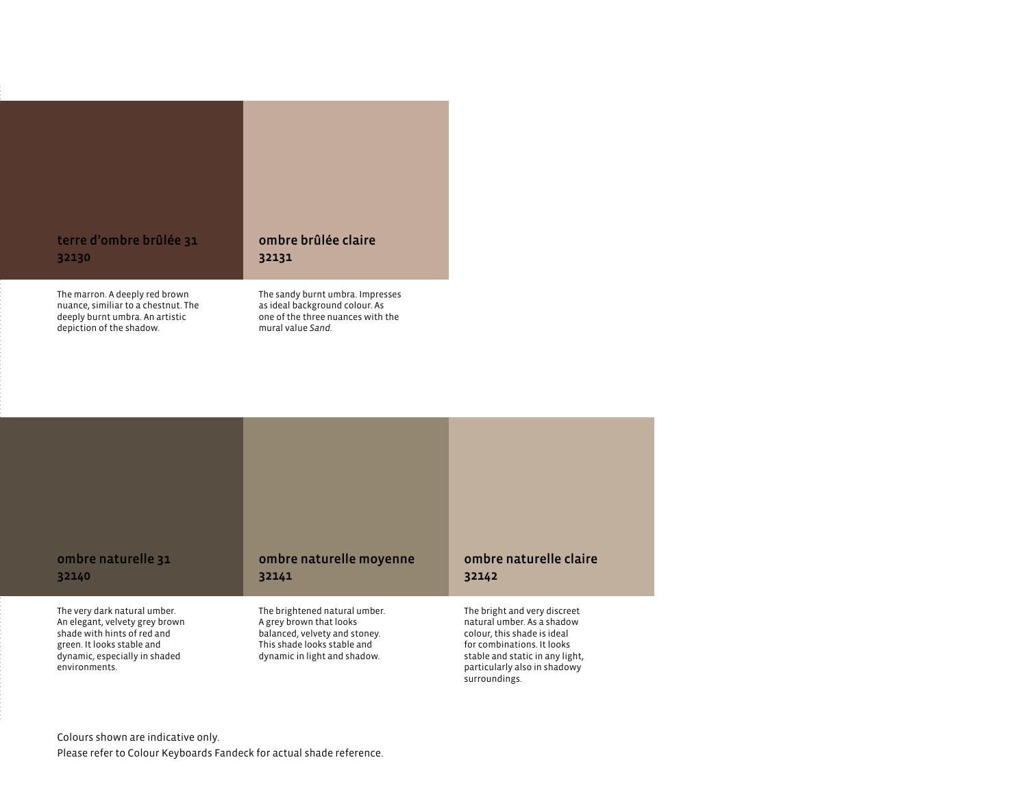 Umbra: natural color and its shades