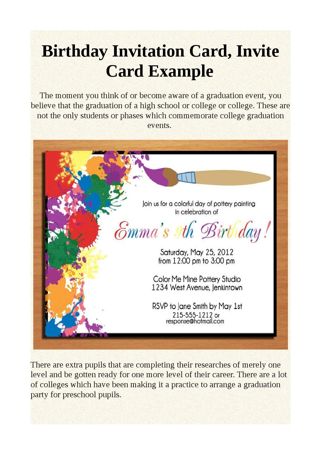 Fabulous Birthday Invitation Card Invite Card Example By Shonivyan Issuu Funny Birthday Cards Online Elaedamsfinfo