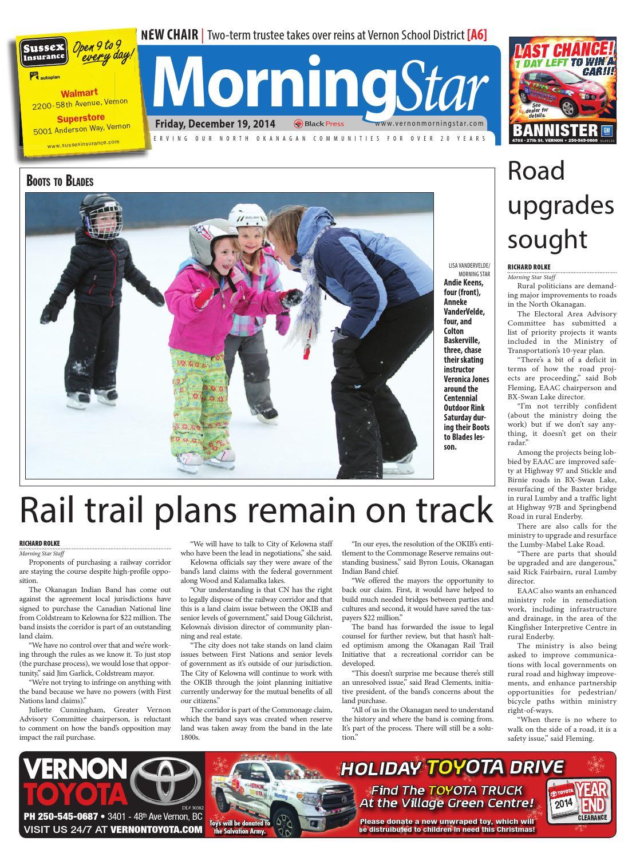 Vernon Morning Star, December 19, 2014 by Black Press Media
