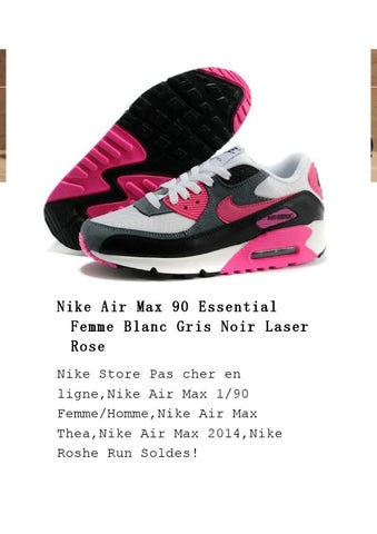 Nike Air Max 90 Essential Femme Blanc Gris Noir Laser Rose Nike Store Pas  cher en ligne,Nike Air Max 1 90 Femme Homme,Nike Air Max Thea,Nike Air Max  2014 ... 81f4e1393e71