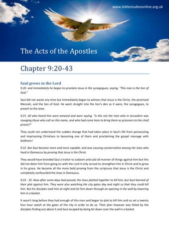 Acts 9 part 2 Bible study by Apostolos Christian Book