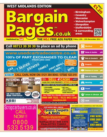 bebf42886fc Bargain Pages Midlands 12th December 2014 by Loot - issuu