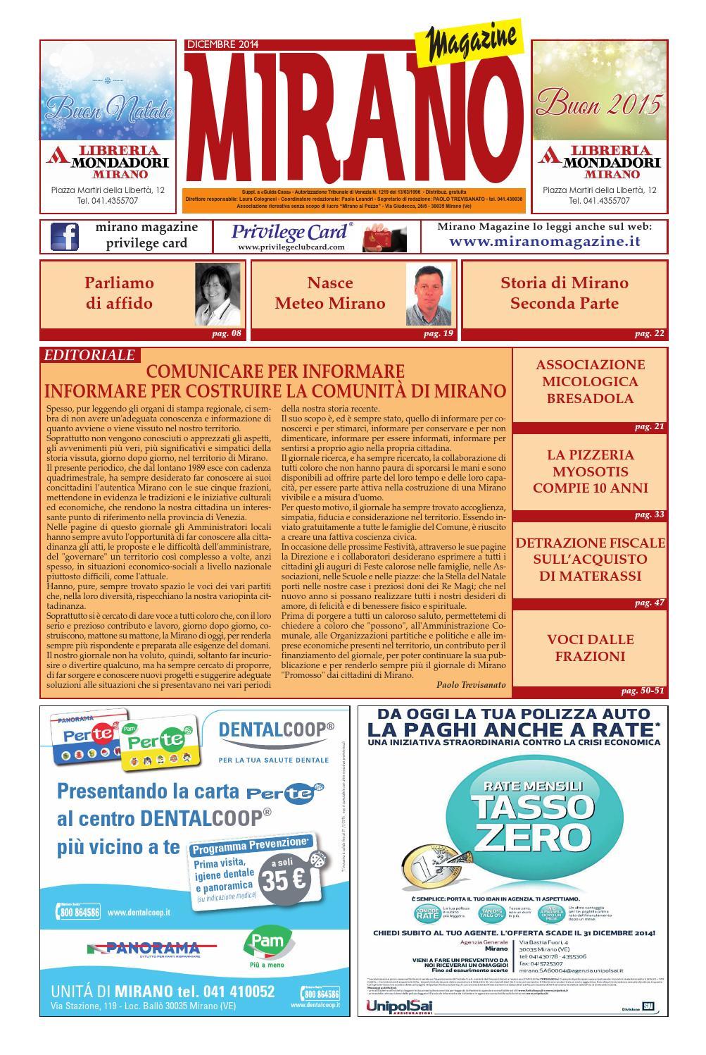 Mirano Magazine Dicembre 2014 By Tobias Capo Issuu