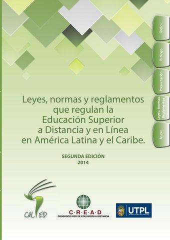 Leyes normas reglamentos ead 2da ed by VICERRECTORADO ACADEMICO ...