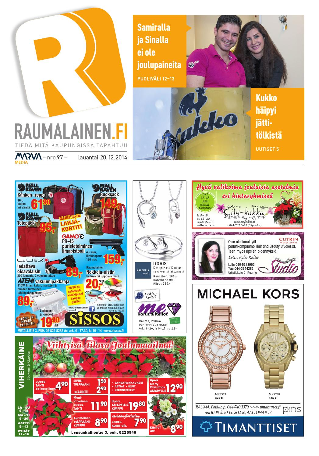 Raumalainen 20.12.2014 by Marva Group - issuu 6def533e8f