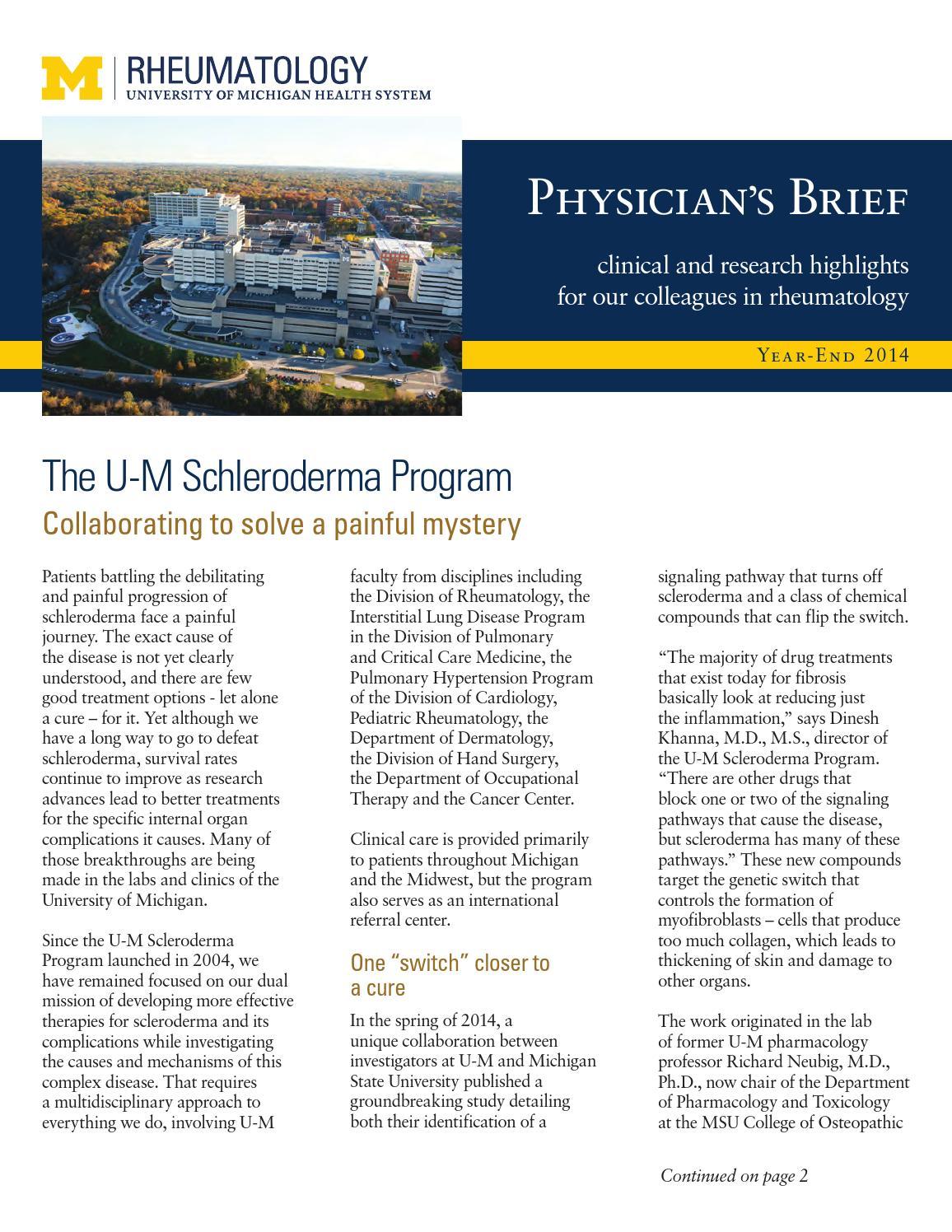 Physicians breif rheumatology dec14 by Michigan Medicine - issuu