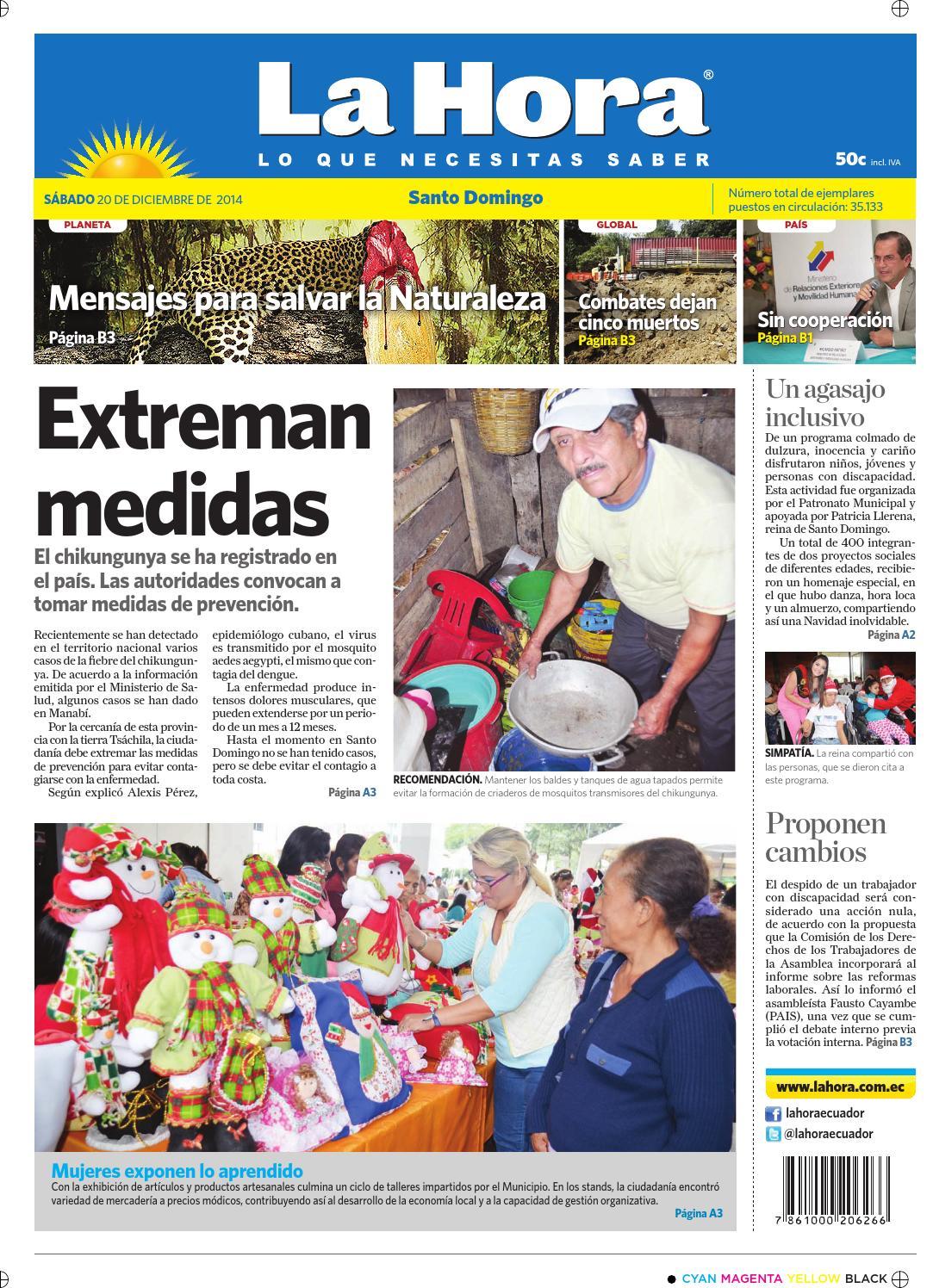 Diario La Hora Santo Domingo 20 de diciembre del 2014 by Diario La Hora  Ecuador - issuu fa4b313432b