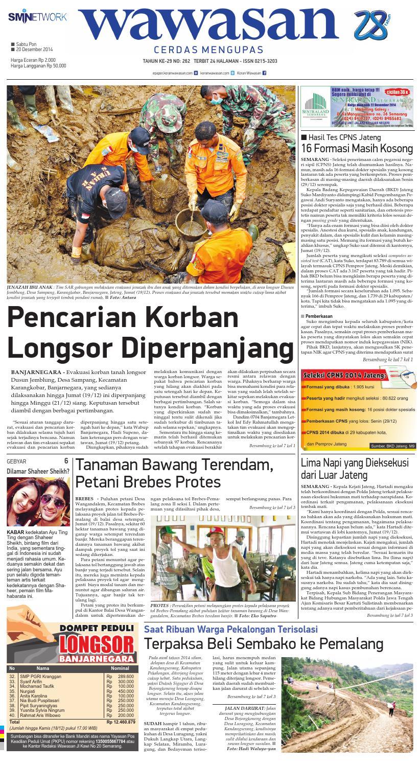 Wawasan 20 Desember 2014 By Koran Pagi Issuu Produk Ukm Bumn Ring Mutiara Mas Putih Laut