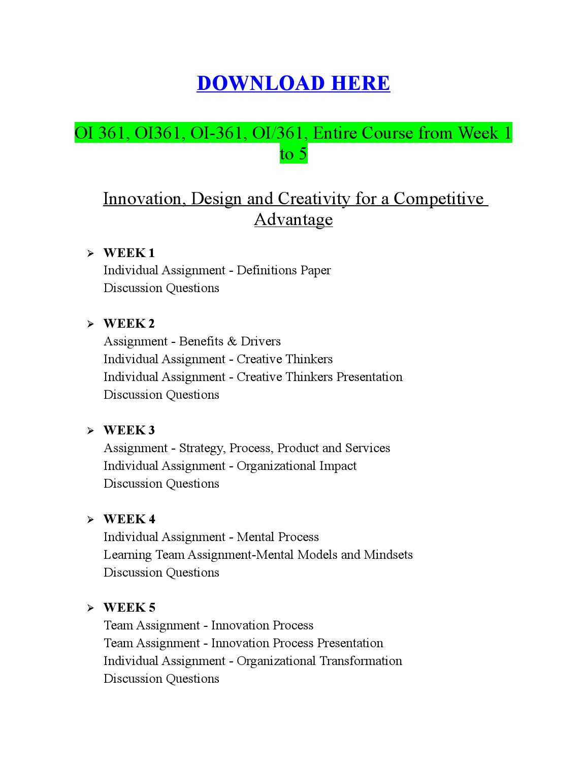 oi 361 mental models mindsets paper Write a 1,050- to 1,400-word paper in which you compare and contrast the four styles of creative intelligence and their influence on organizational decision making discuss how the five forces influence mental models and mindsets.