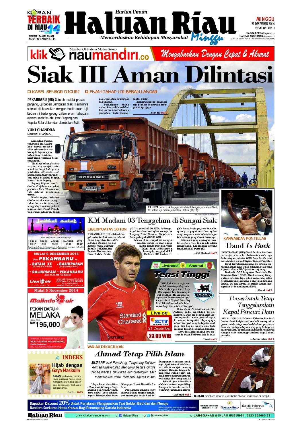 Haluanriau 2014 12 21 By Haluan Riau Issuu Warior Lc Pendek All Black Sekolah Prsmuka Kerja Santai Main Anak Dewasa