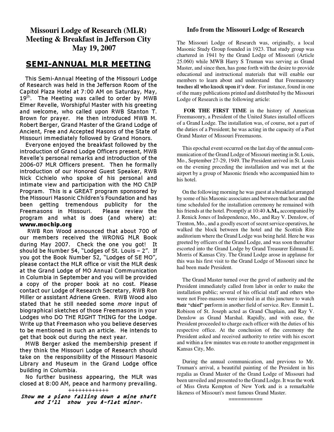 07 02 by Missouri Lodge of Research - issuu