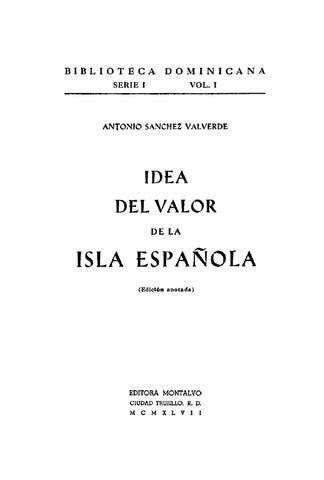 dac0477742af Idea del Valor de la Isla Española