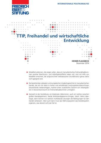 Heiner Flassbeck 2014: TTIP, Freihandel und wirtschaftliche ...