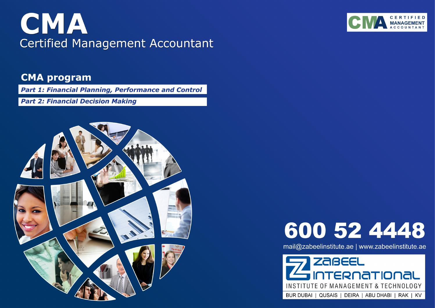 Certified management accountant cma course brochure by zabeel certified management accountant cma course brochure by zabeel international institute of management technology issuu 1betcityfo Image collections