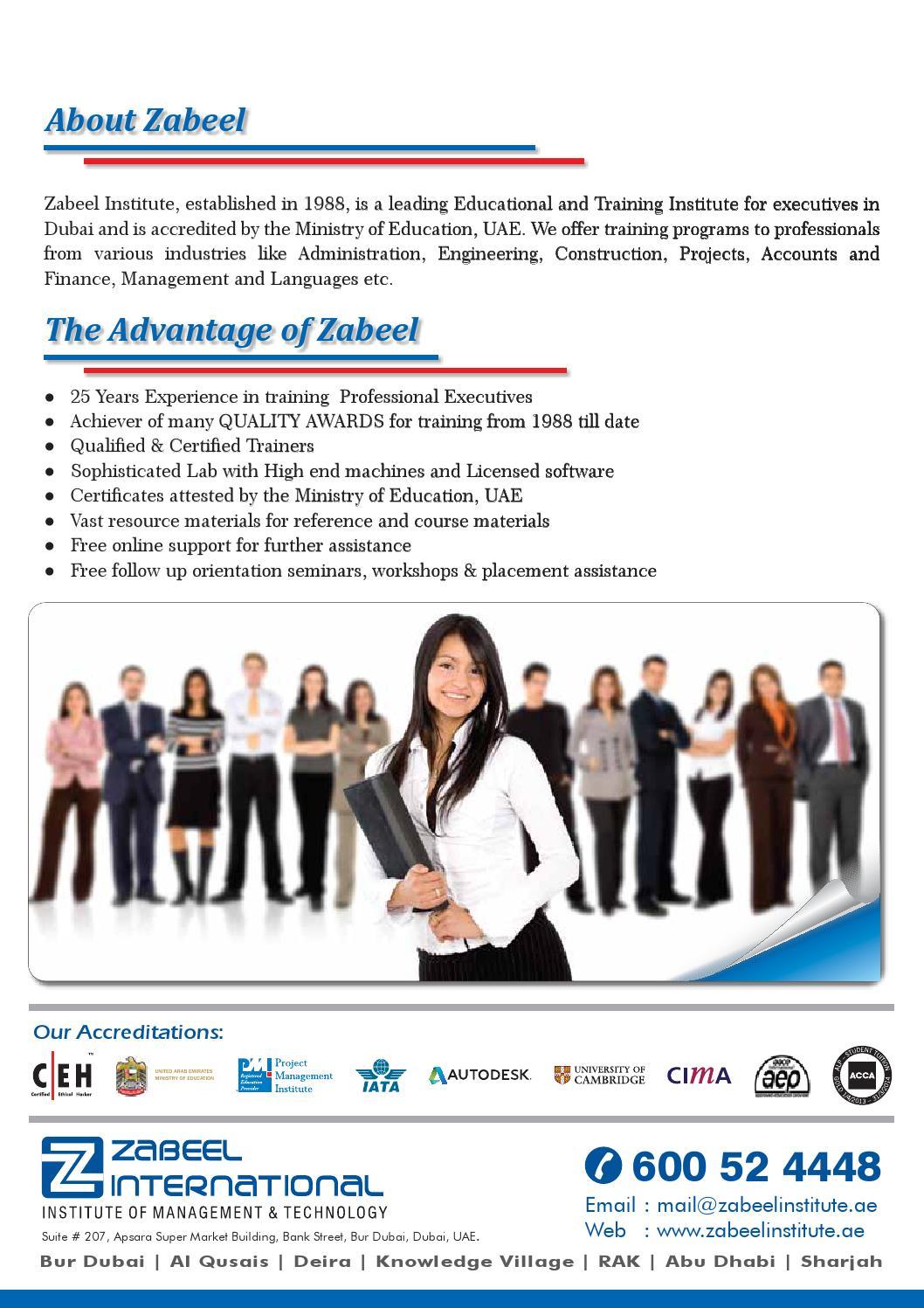 Zabeel Language Academy Courses Brochures By Zabeel International