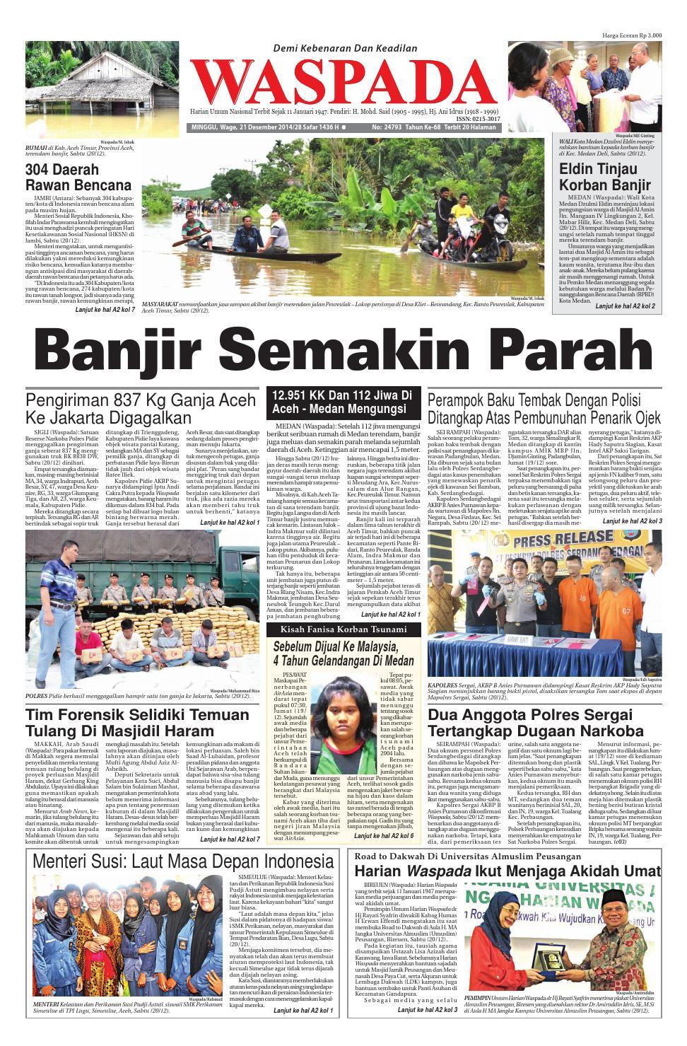 Waspada Minggu 21 Desember 2014 By Harian Issuu Zaskia Mecca Illea Blouse Perak