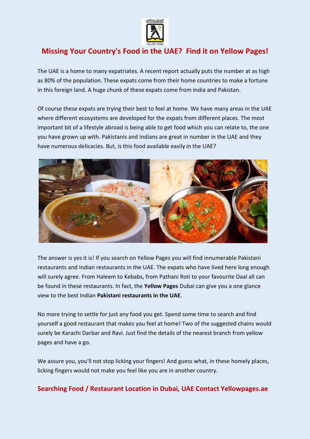 Indian Pakistani Restaurants in the UAE-Yellowpages ae by Etisalat