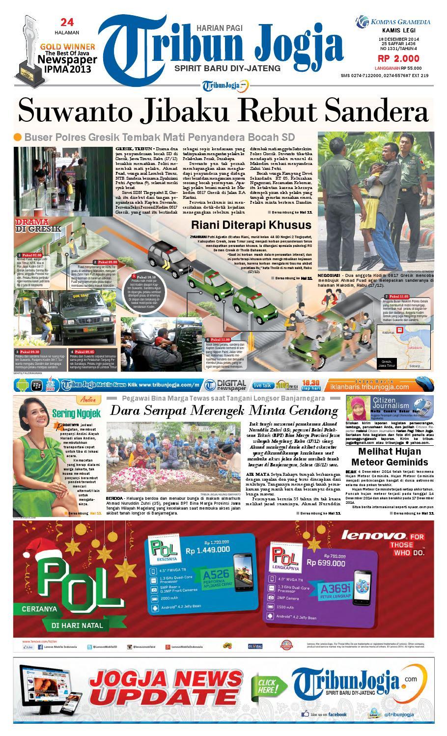 Tribunjogja 18 12 2014 By Tribun Jogja Issuu Produk Ukm Bumn Kain Batik Middle Premium Sutera