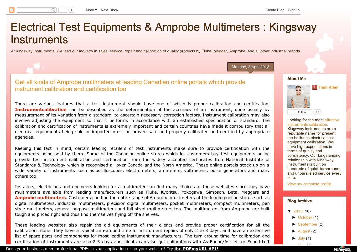 Electrical test equipments instruments in edmonton by kingsway electrical test equipments instruments in edmonton by kingsway instruments issuu xflitez Images