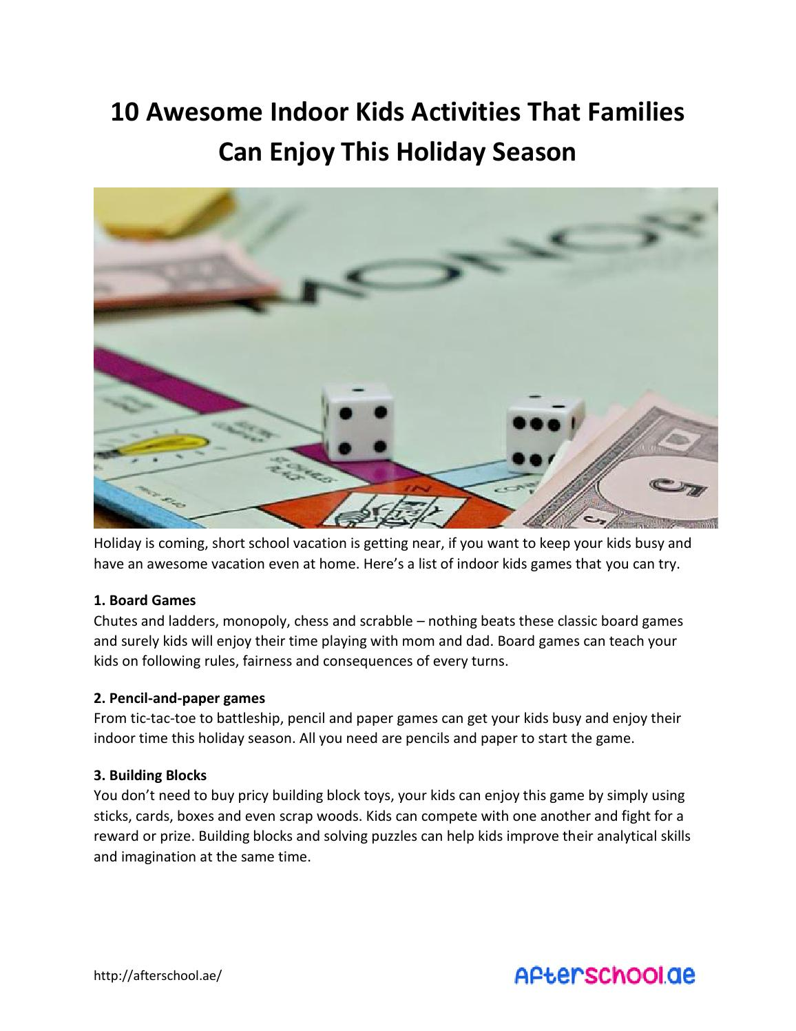 10 Awesome Indoor Kids Activities That Families Can Enjoy This Block Diagram Games Holiday Season By Jane Arellano Issuu