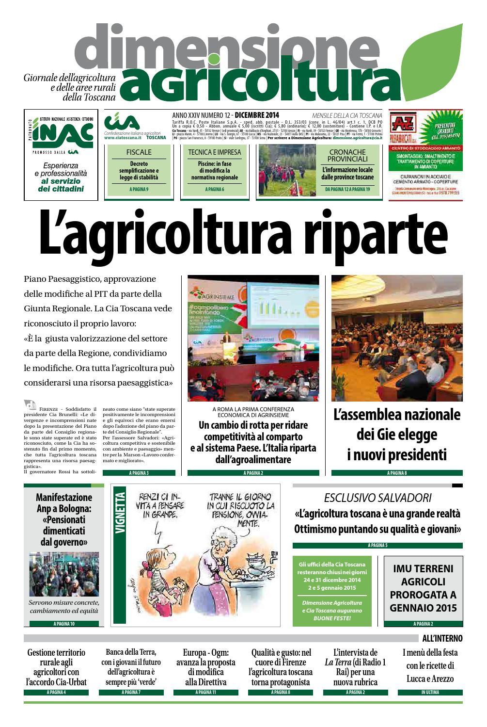 Dimensione Agricoltura Dicembre 2014 by Confederazione