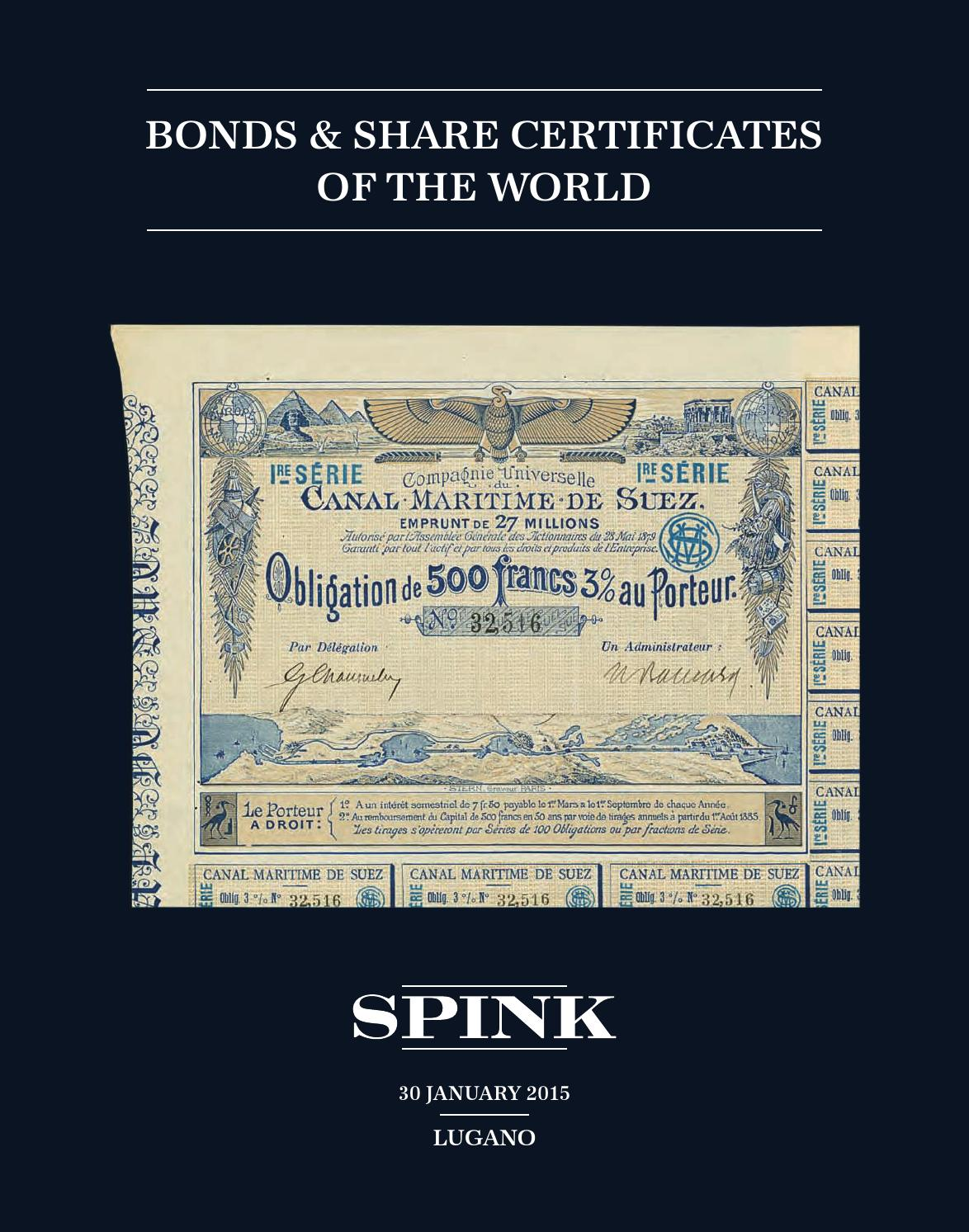 Bonds & Share Certificates of the World by Spink and Son - issuu