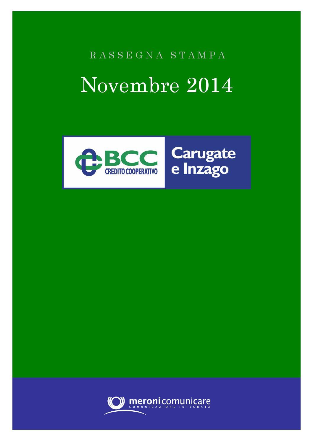 Bcc Rassegnastampa Novembre2014 By Bcc Carugate E Inzago Issuu