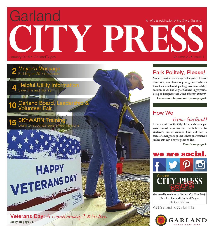 Garland City Press January 2015 by City of Garland Texas issuu