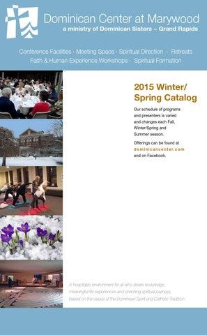 Dominican Center Winter/Spring 2015 Program Catalog