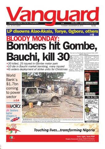BLOODY MONDAY: Bombers hit Gombe, Bauchi, kill 30 by