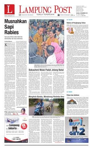 LAMPUNG POST    Selasa 23 Desember 2014 by Lampung Post - issuu f856345e58
