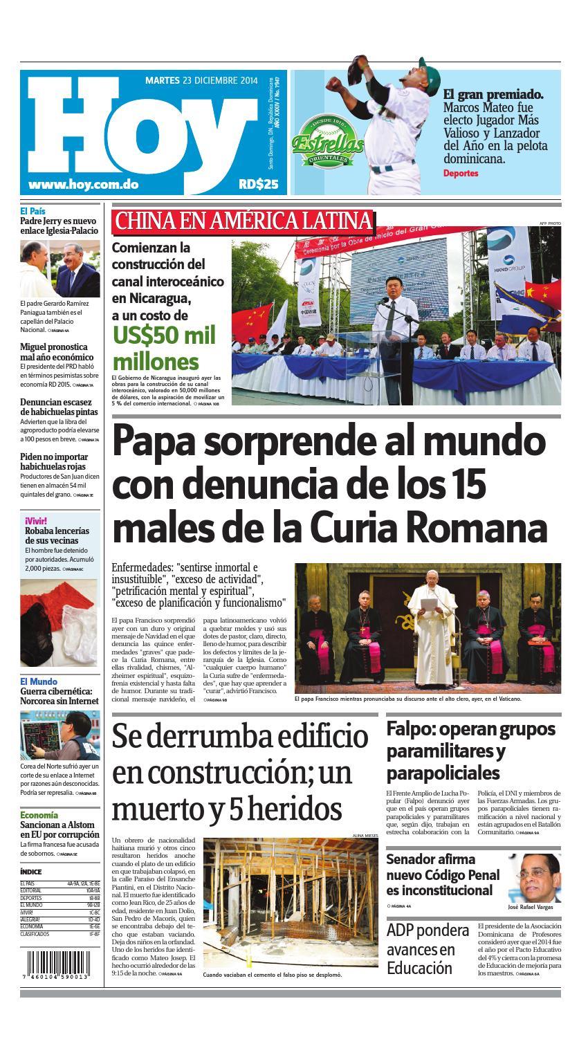 7053f8ed1ff0 Periodico hoy 23 de diciembre by Periodico Hoy - issuu