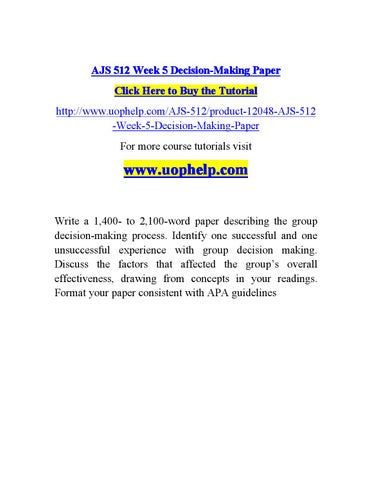 decision making paper