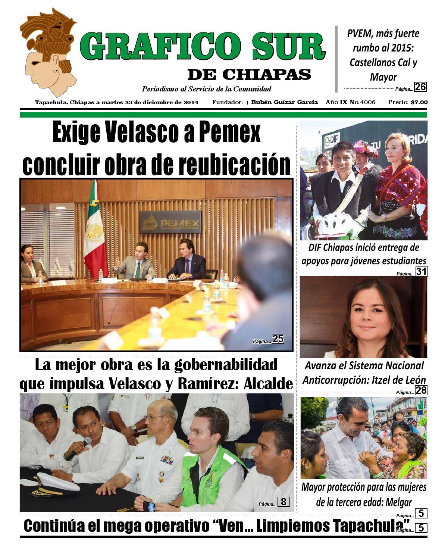 Grafico sur 23 12 14 tapachula by Grafico Sur de Chiapas - issuu